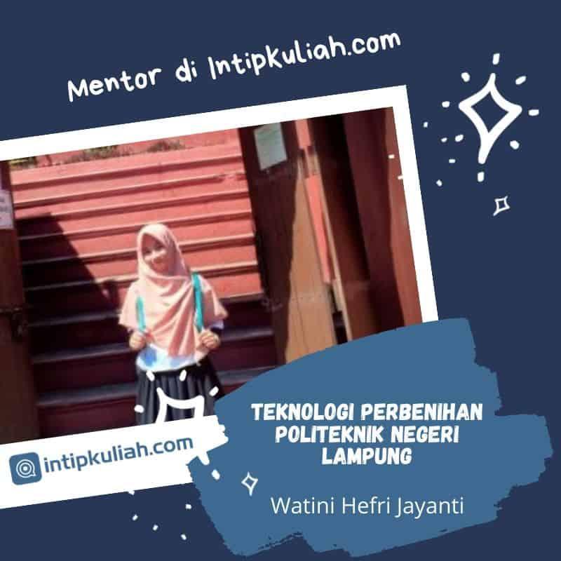 Teknologi Perbenihan Politeknik Negeri Lampung (Tini)