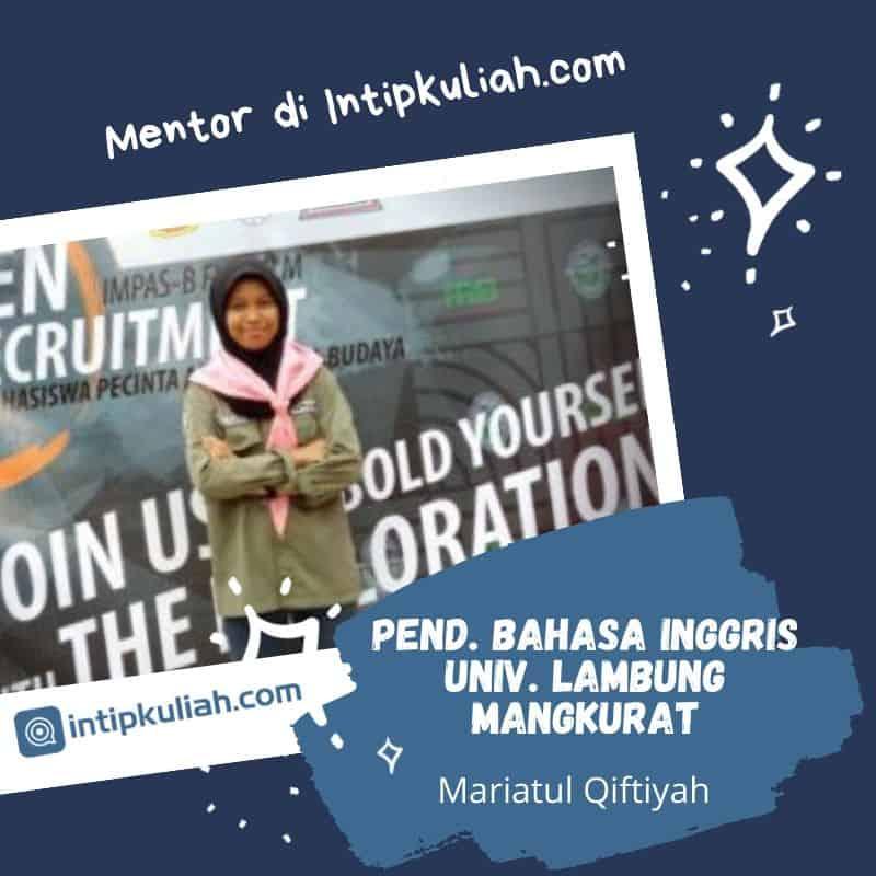 Pendidikan Bahasa Inggris Universitas Lambung Mangkurat (Maria)