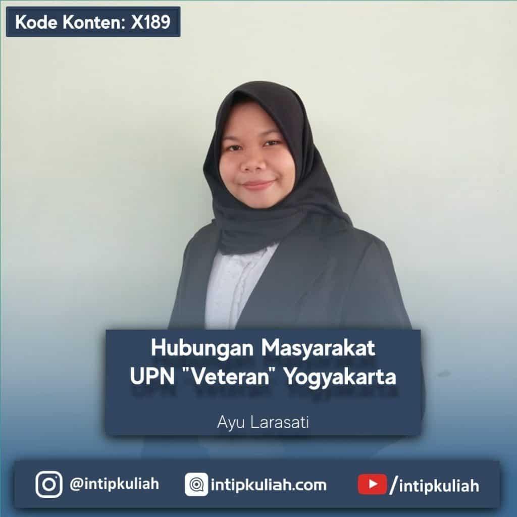 Hubungan Masyarakat UPN Yogyakarta (Ayu)