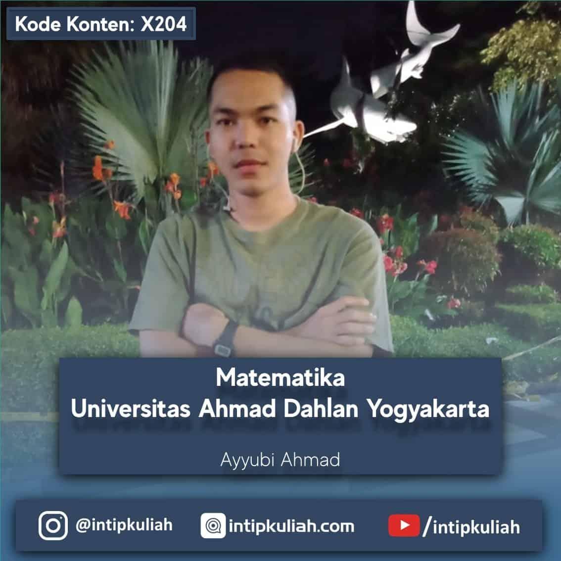 Matematika Universitas Ahmad Dahlan (Ayyubi)