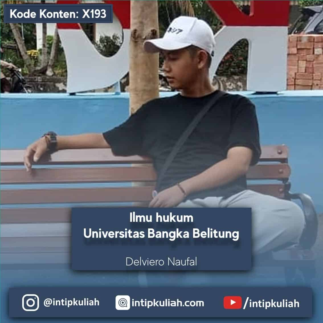 Ilmu Hukum Universitas Bangka Belitung (Delviero)
