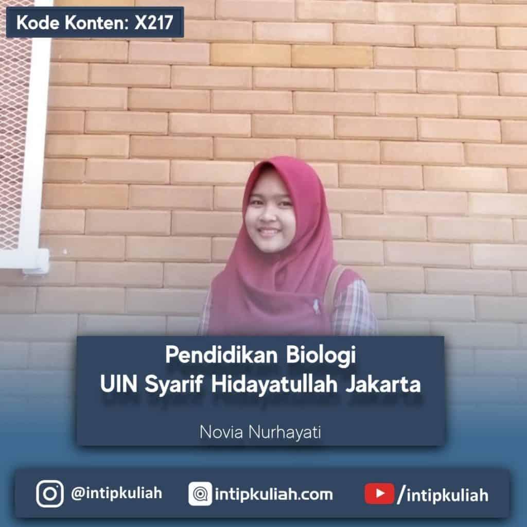 Pendidikan Biologi UIN Syarif Hidayatullah Jakarta (Novi)