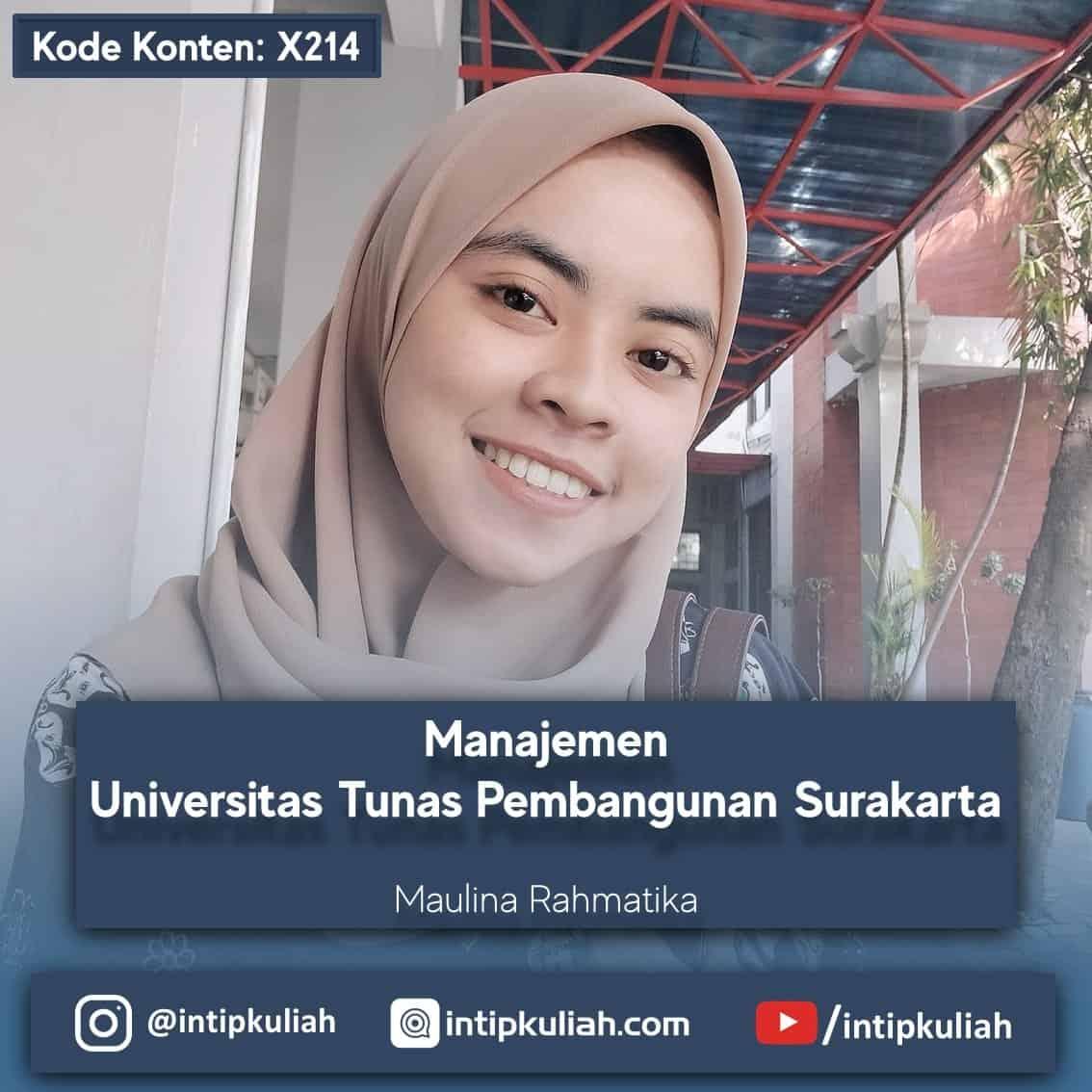 Manajemen Universitas Tunas Pembangunan Surakarta (Maulina)