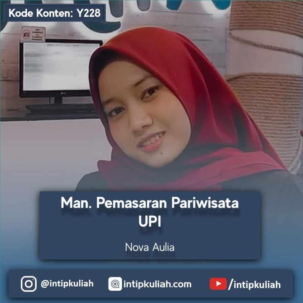 Manajemen Pemasaran Pariwisata UPI (Nova)