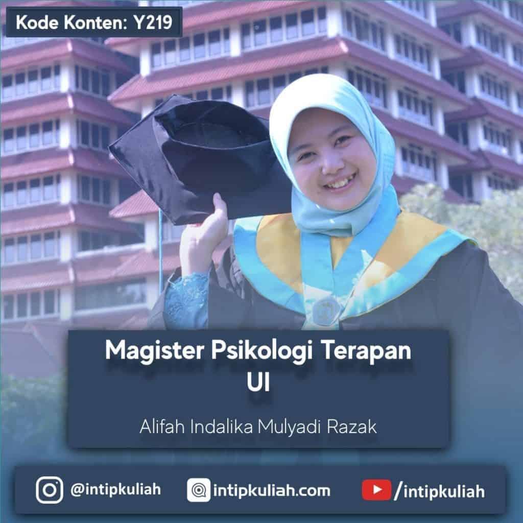 Magister Psikologi Terapan UI (Alifah)