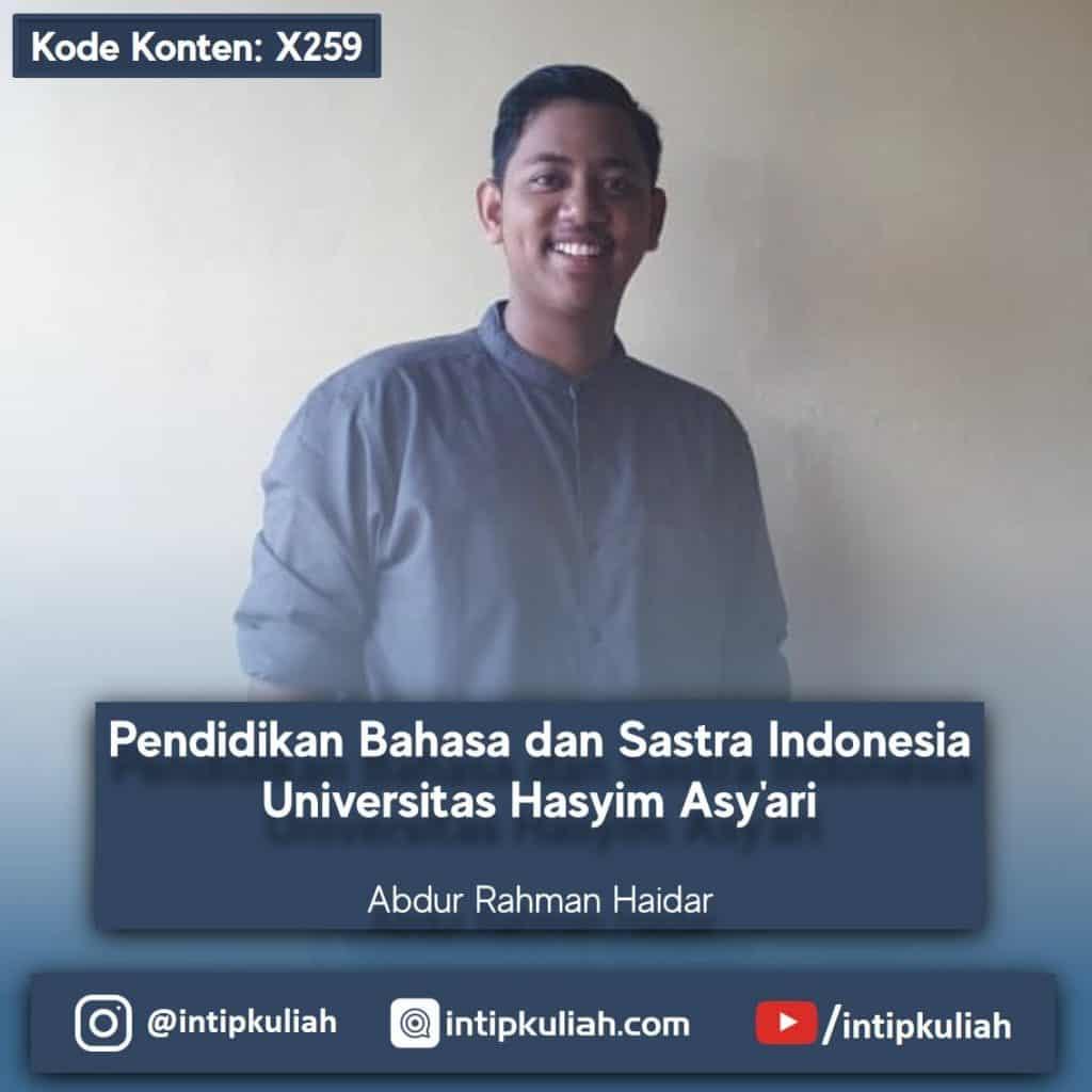 Pendidikan Bahasa dan Sastra Indonesia Universitas Hasyim Asy'ari (Haidar)