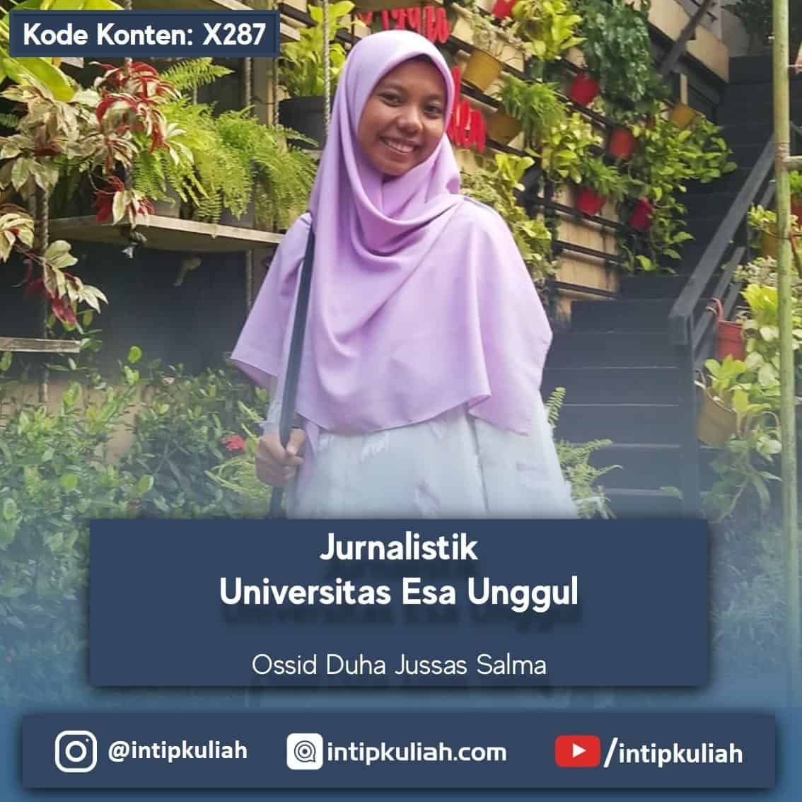 Jurnalistik Universitas Esa Unggul (Ossid)