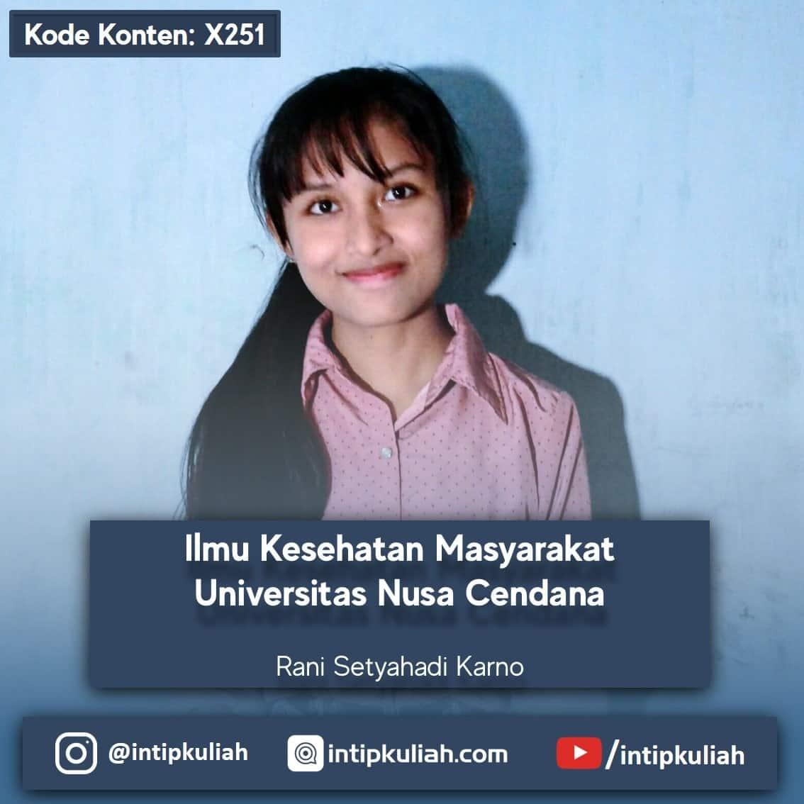 Kesehatan Masyarakat Undana / Universitas Nusa Cendana (Rani)
