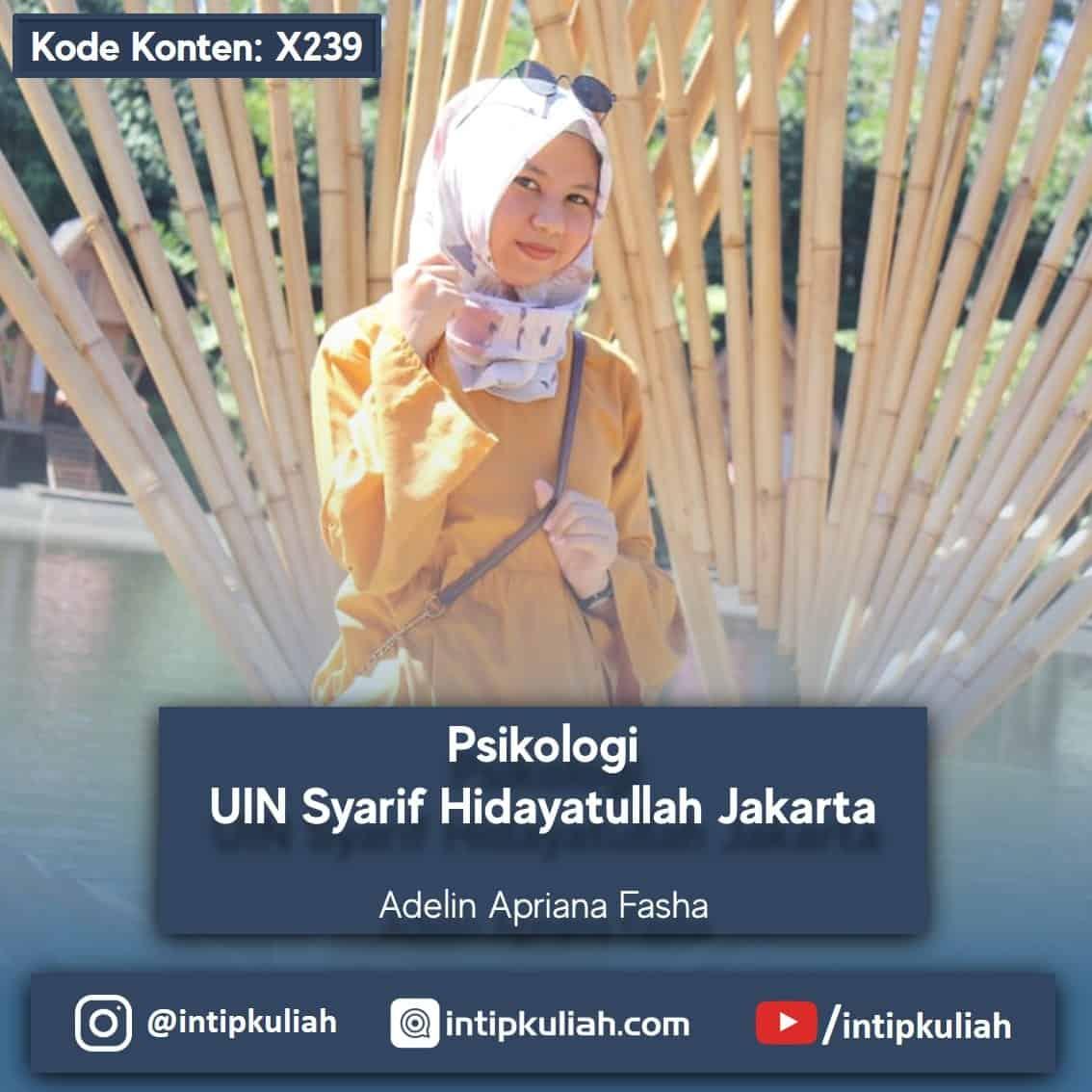 Psikologi UIN Syarif Hidayatullah Jakarta (Adelin)