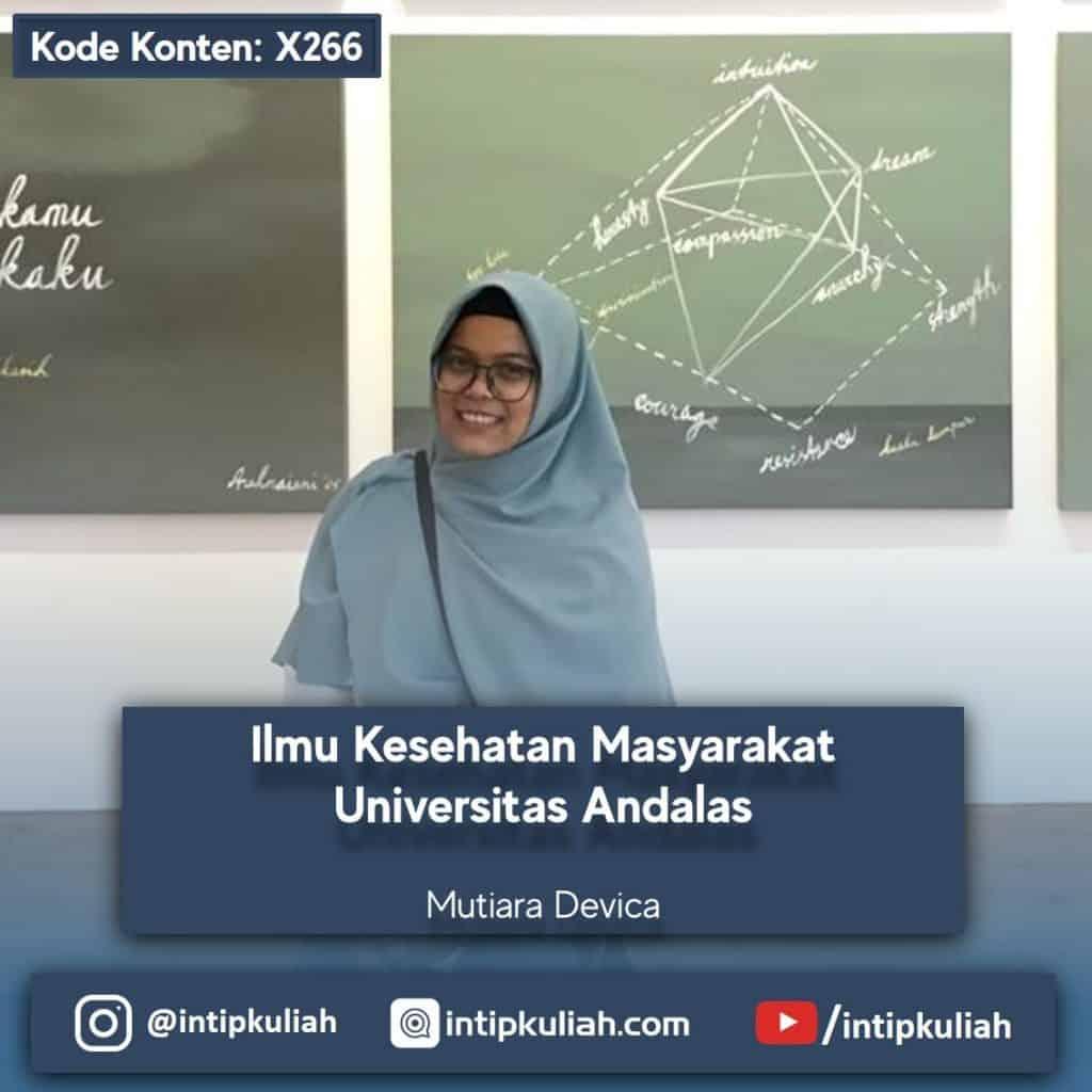 Ilmu Kesehatan Masyarakat Universitas Andalas (Mutiara)