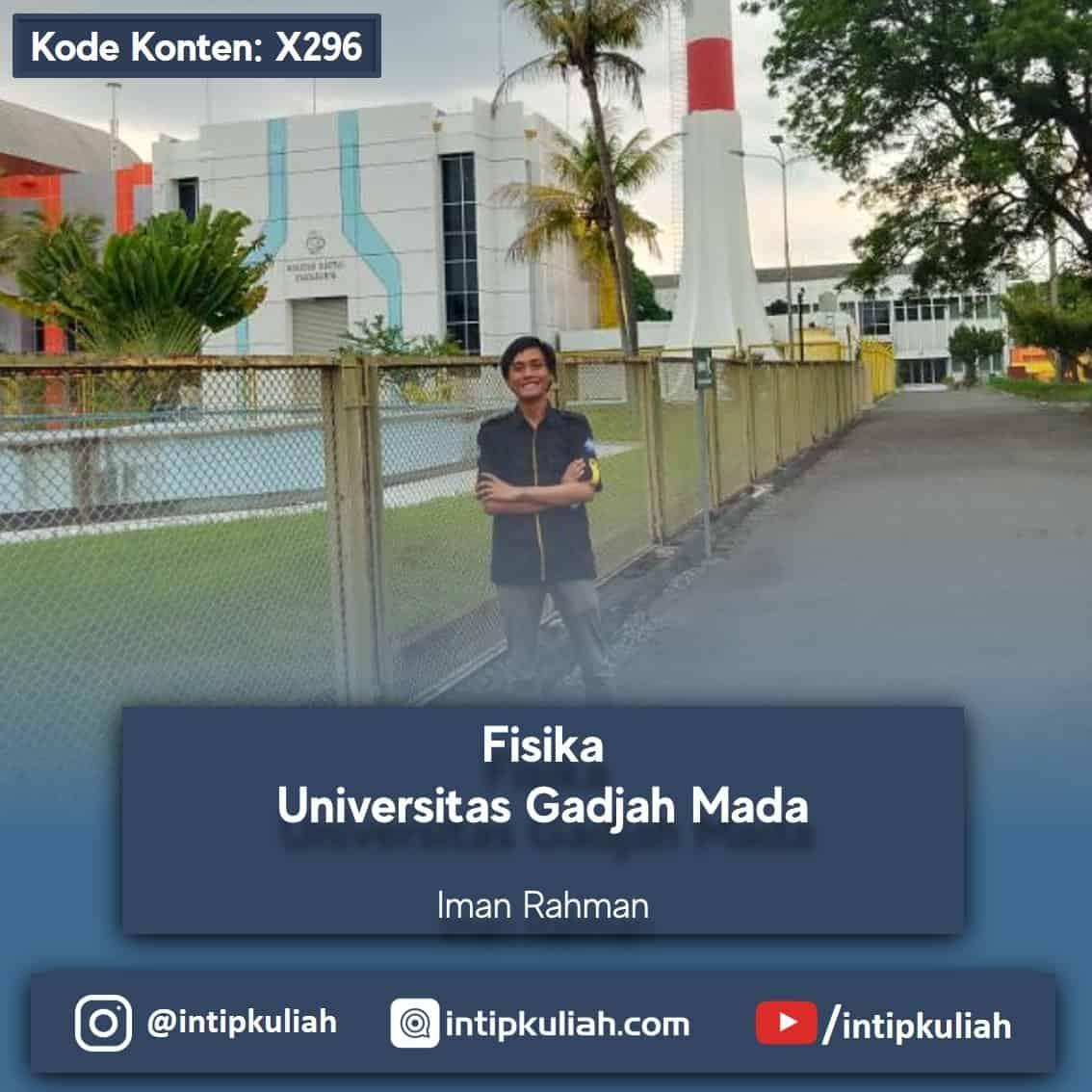 Fisika UGM / Universitas Gadjah Mada (Iman)