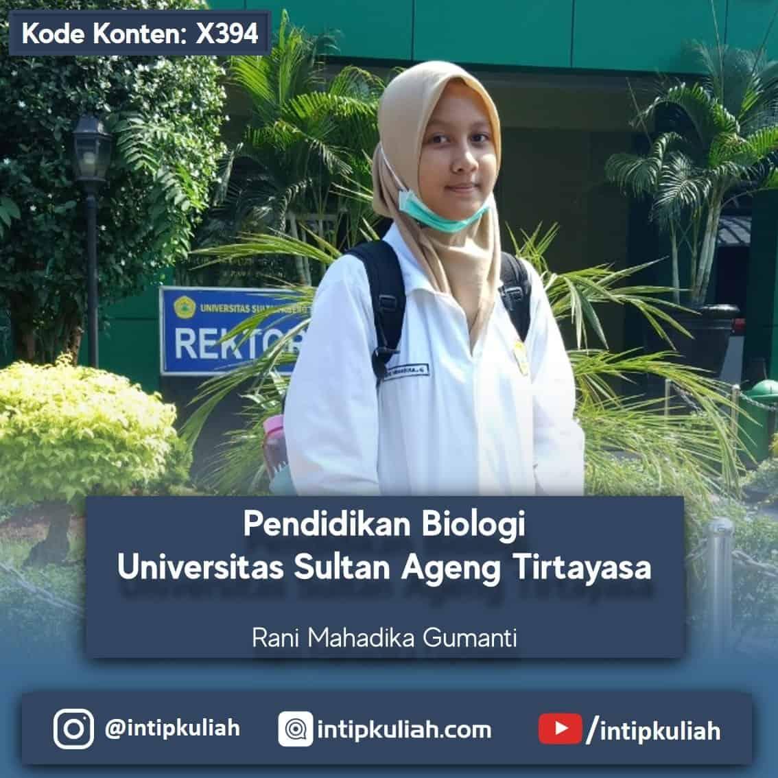 Pendidikan Biologi Untirta (Rani)