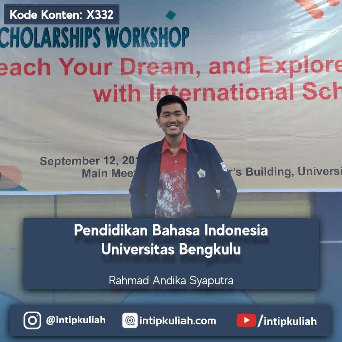 Pendidikan Bahasa Indonesia Universitas Bengkulu (Andi)