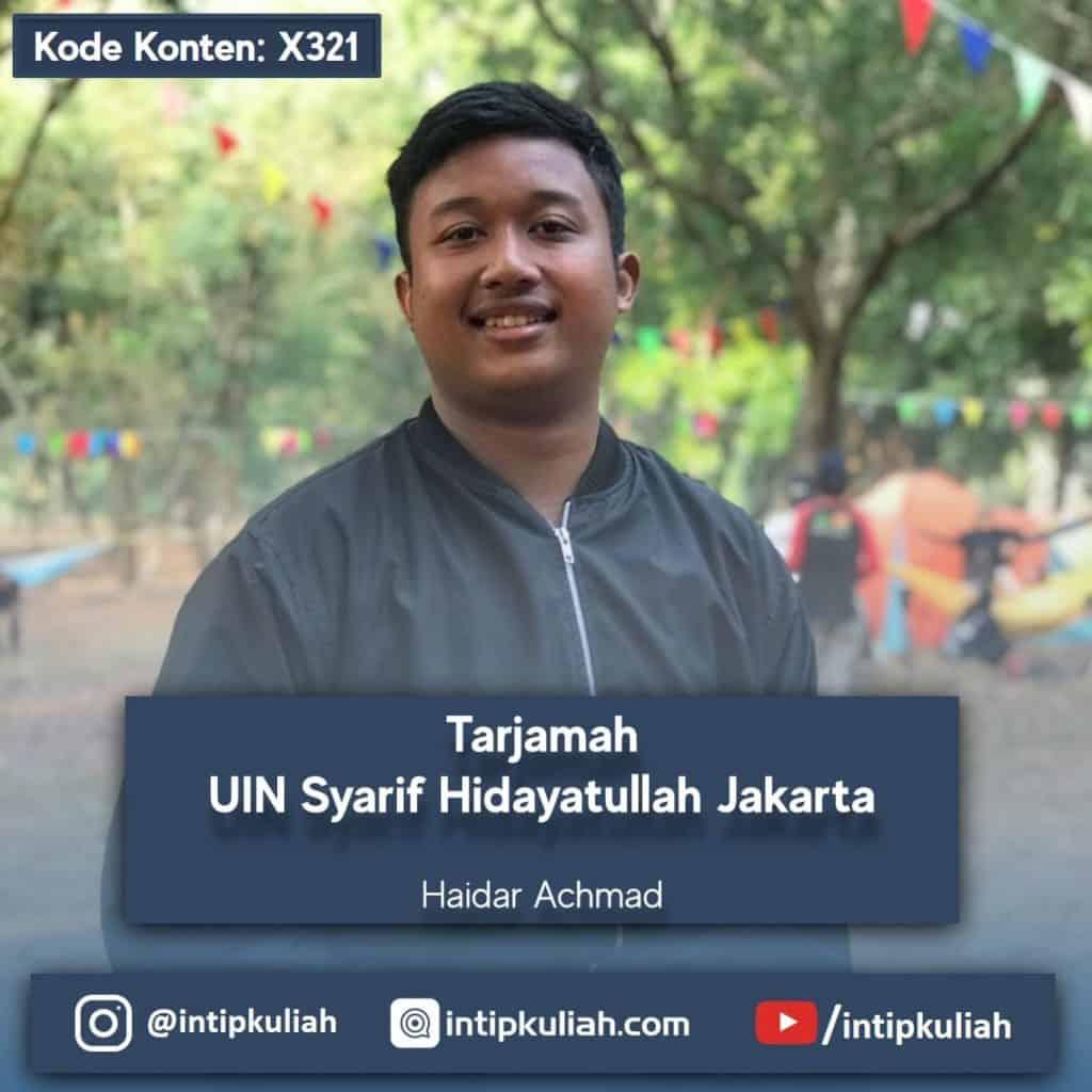 Tarjamah UIN Syarif Hidayatullah Jakarta (Haidar)