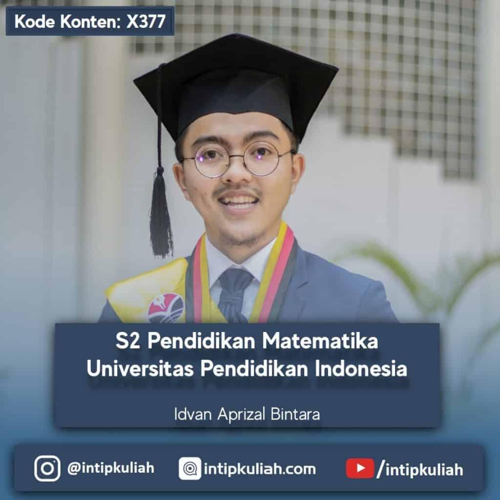 Magister Pendidikan Matematika UPI (Idvan)