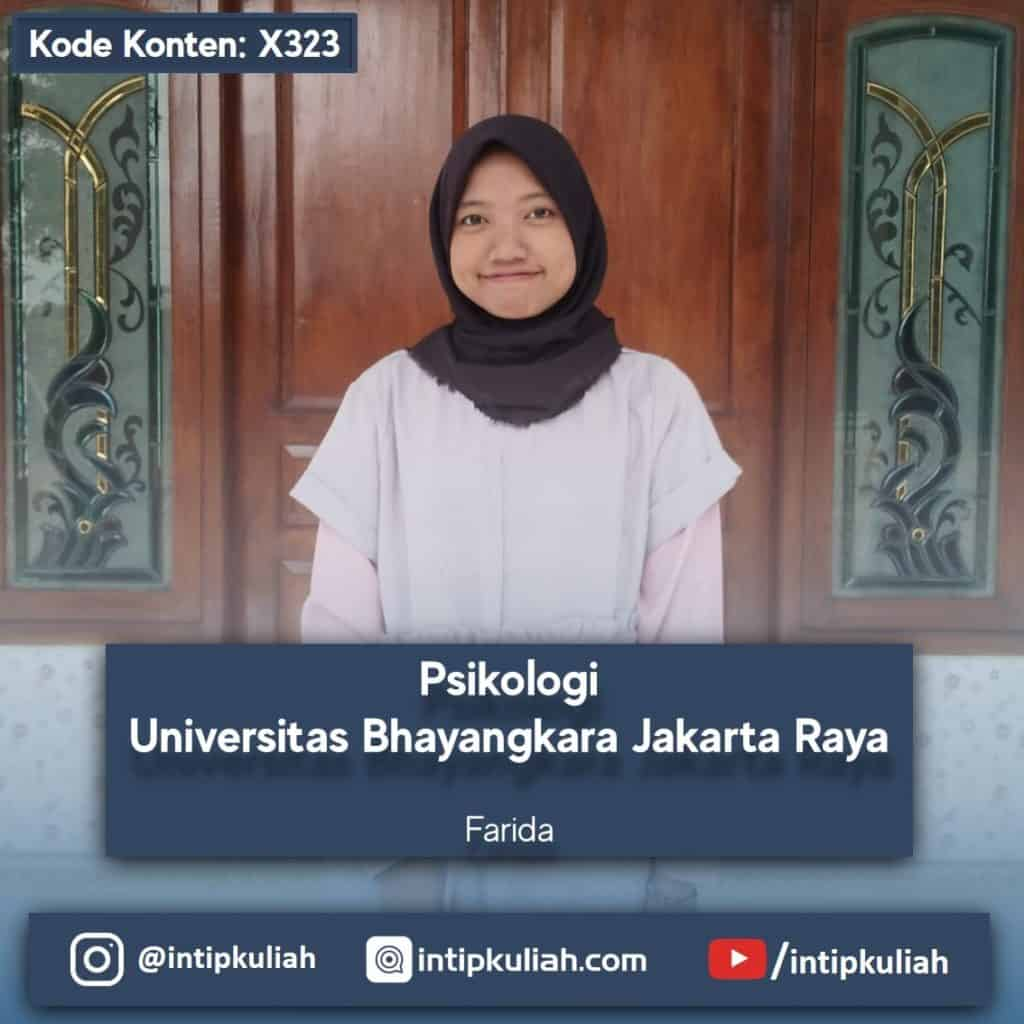 Psikologi Universitas Bhayangkara Jakarta Raya (Farida)