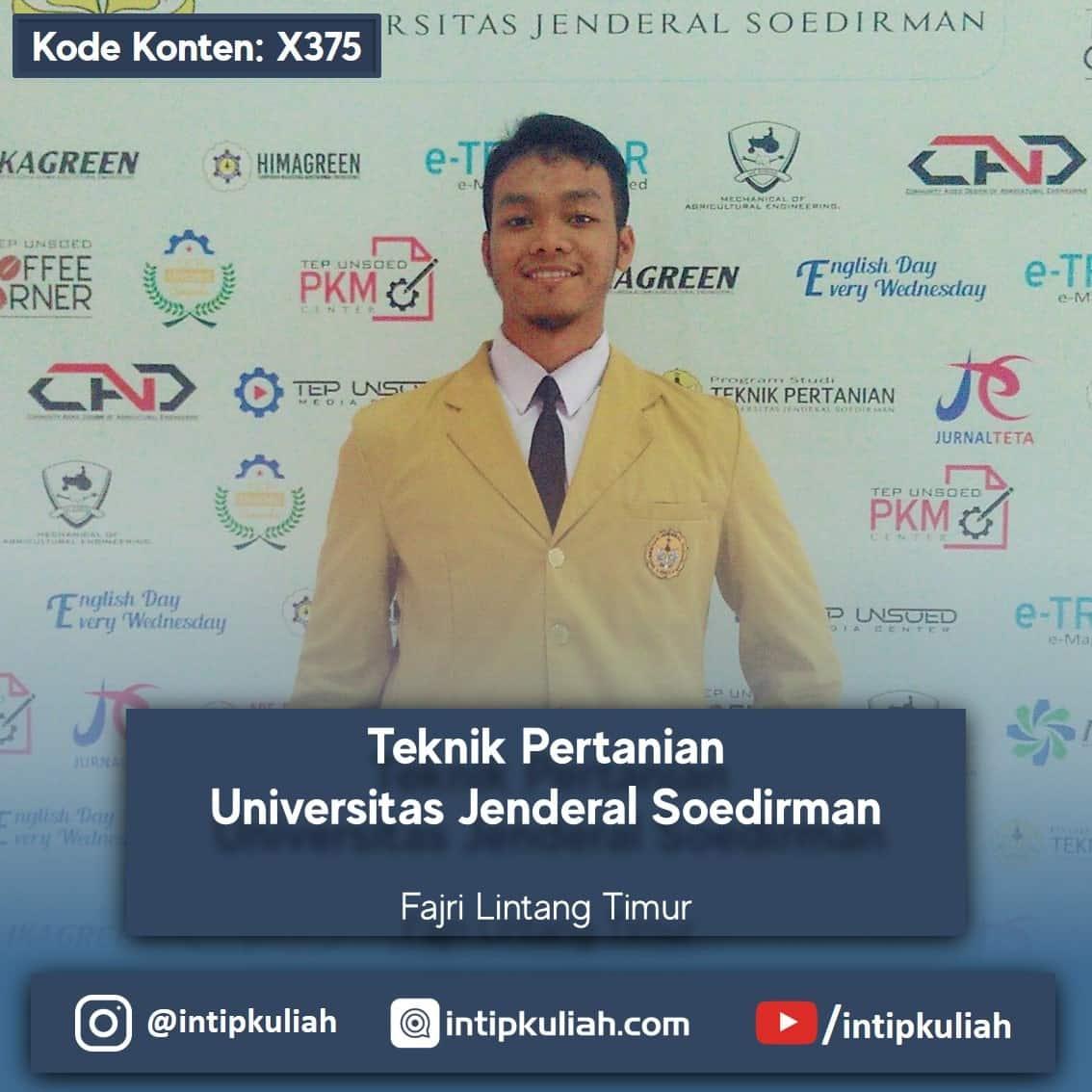 Teknik Pertanian Universitas Jenderal Soedirman (Fajri)