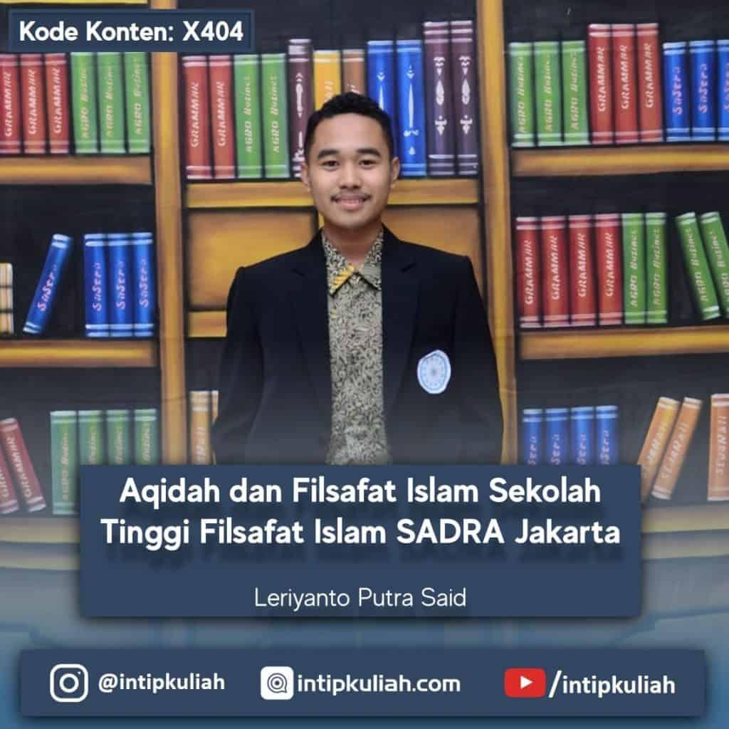 Filsafat Islam STFI SADRA (Leriyanto)
