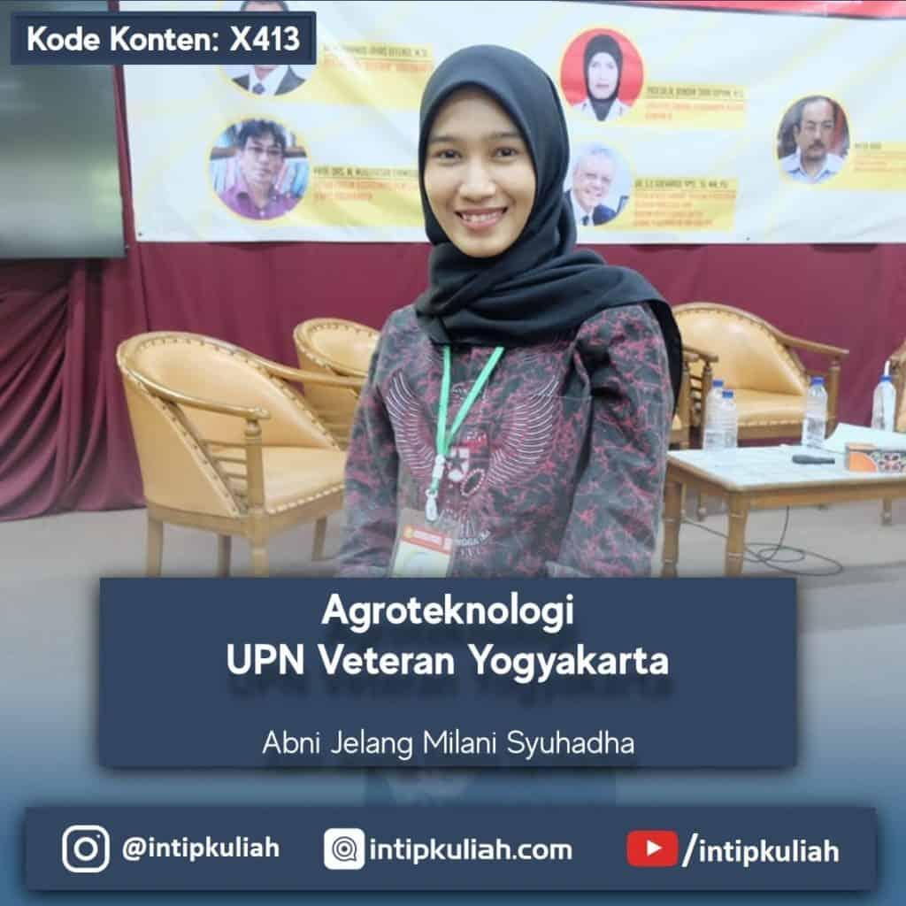 "Agroteknologi Universitas Pembangunan Nasional ""Veteran"" Yogyakarta (Abni)"