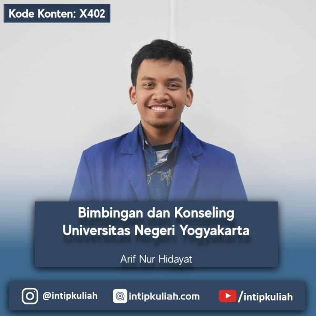 Bimbingan dan Konseling UNY / Universitas Negeri Yogyakarta (Arif)
