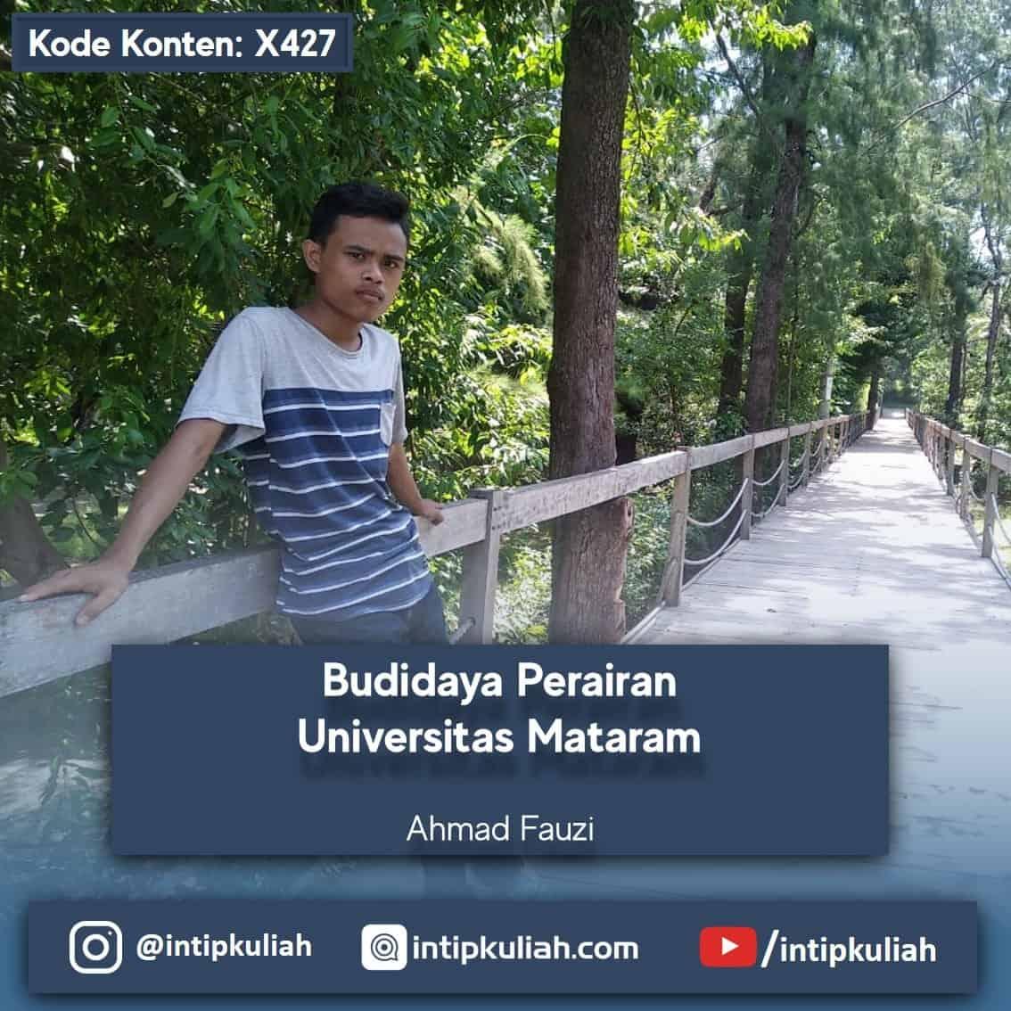 Budidaya Perairan Universitas Mataram (Ahmad)