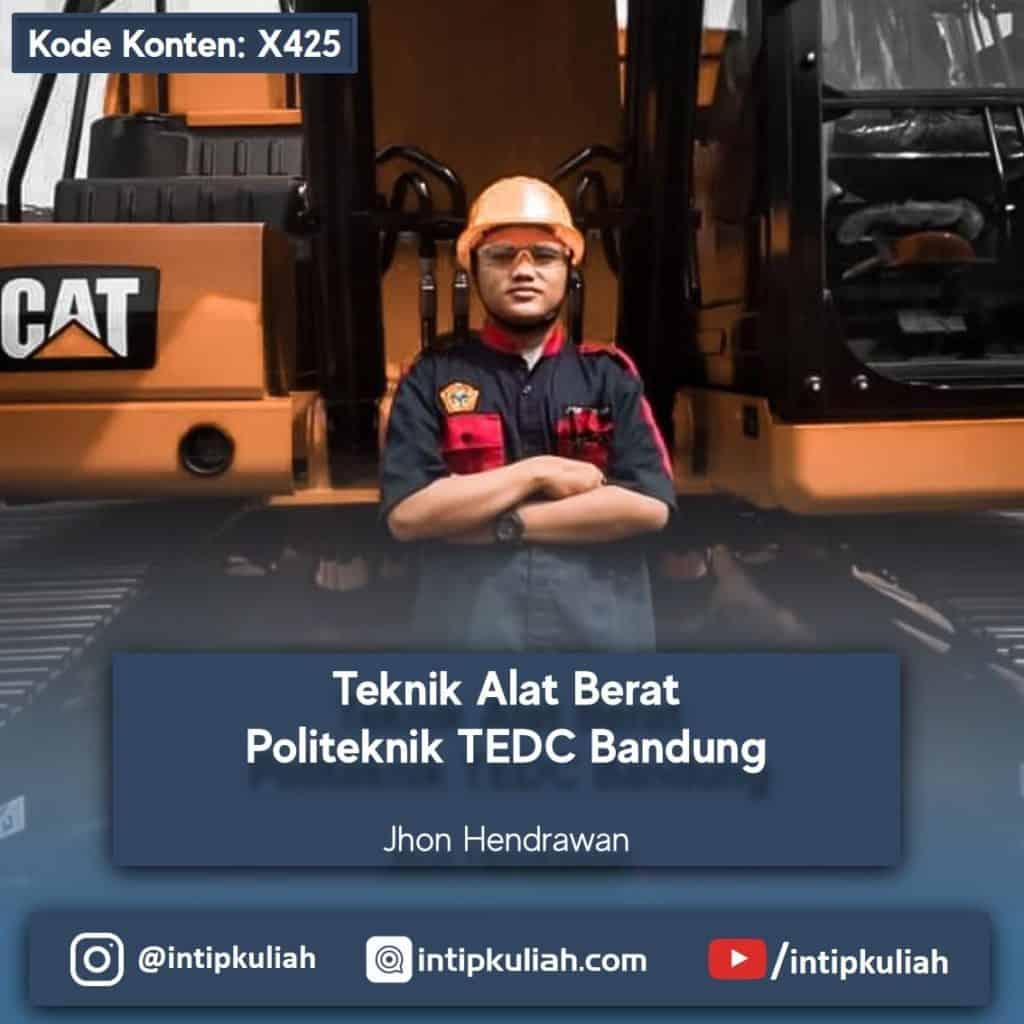 Teknik Alat Berat Politeknik TEDC Bandung (Jhon)