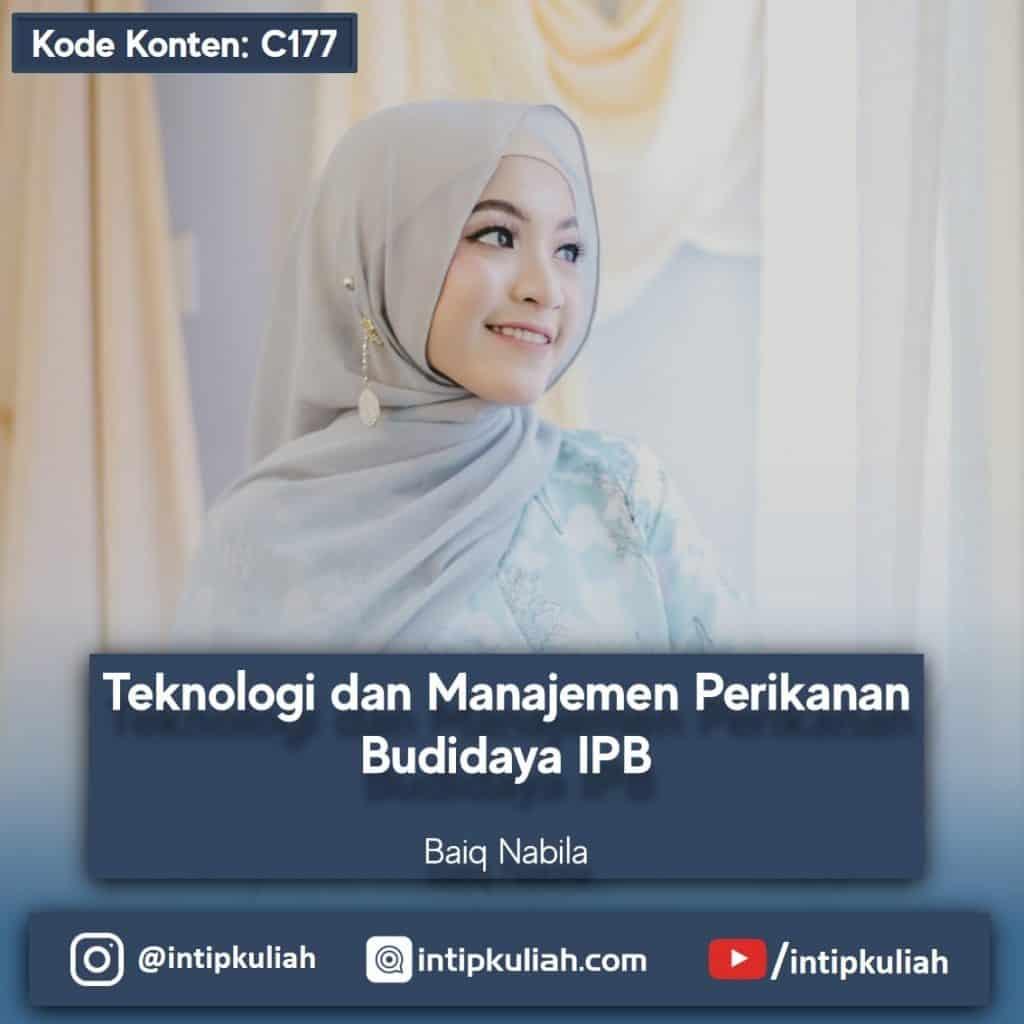 Teknologi dan Manajemen Perikanan Budidaya IPB (Baiq)