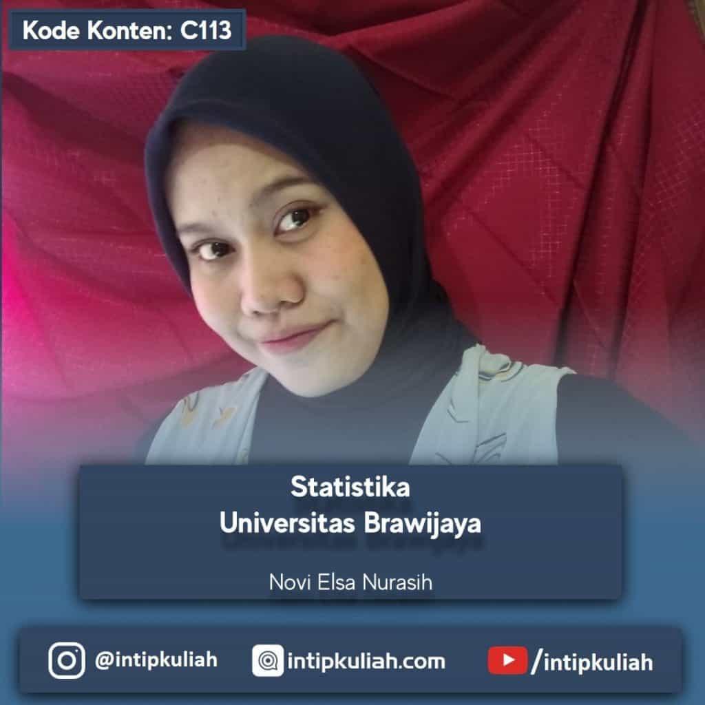 Statistika Universitas Brawijaya (Novi)