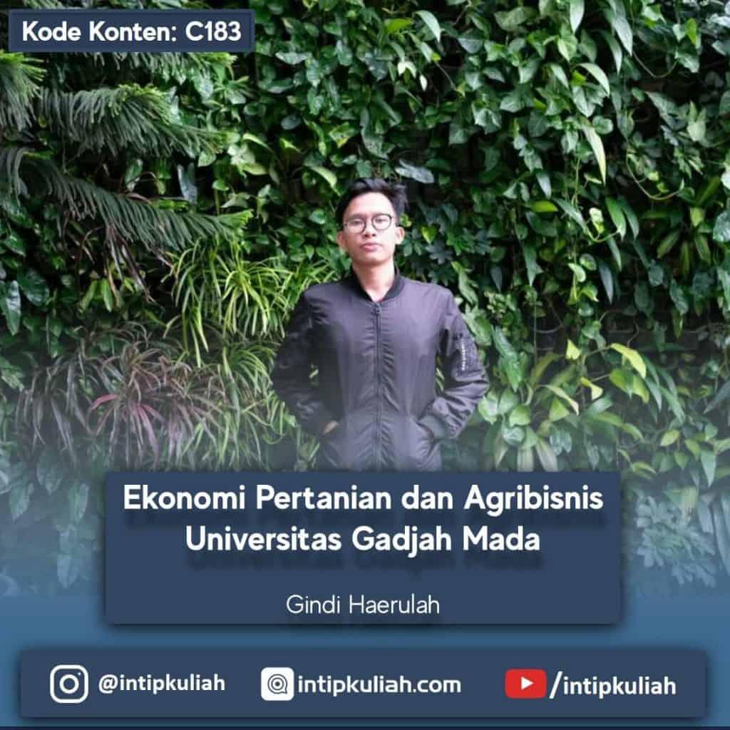 Ekonomi Pertanian dan Agribisnis UGM (Gindi)