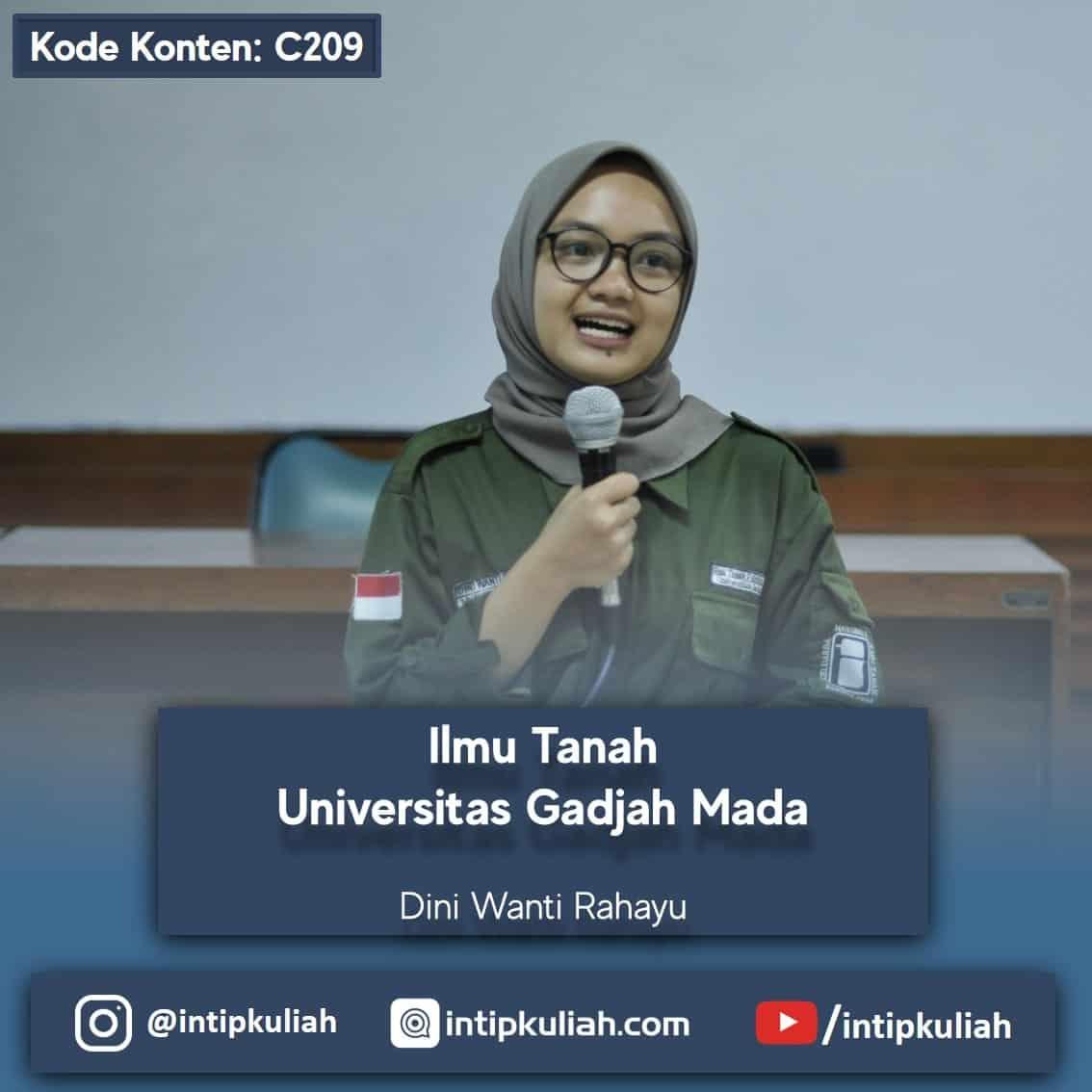 Ilmu Tanah Universitas Gadjah Mada (Dini)