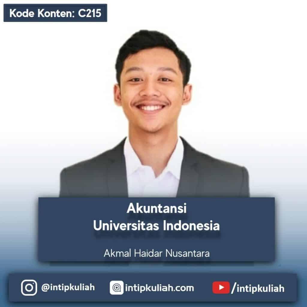 Akuntansi Universitas Indonesia (Akmal)