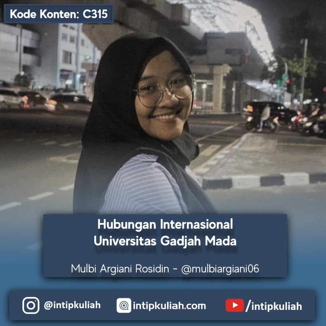 Ilmu Hubungan Internasional Universitas Gadjah mada (Mulbi)