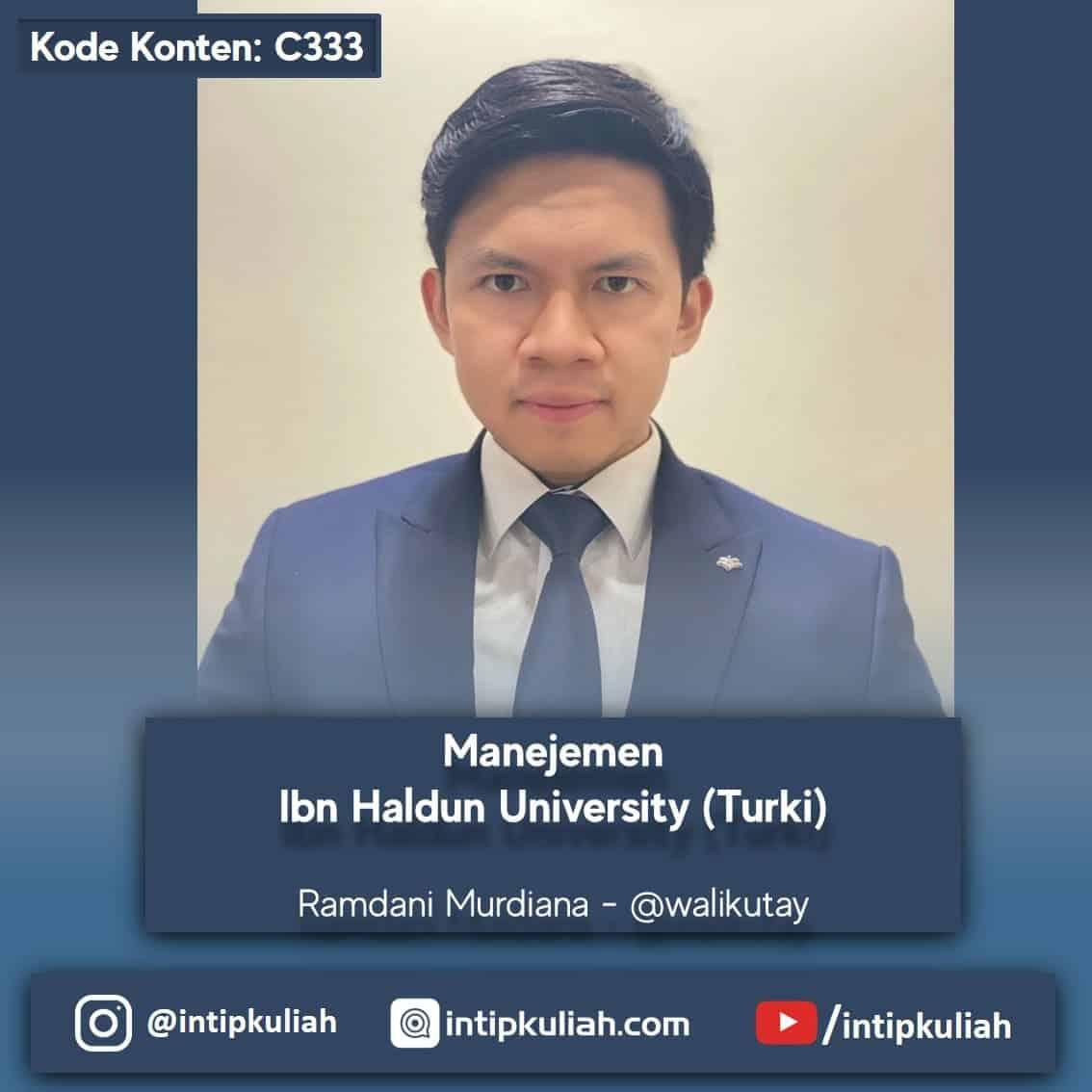 S2 Manajemen Ibn Haldun University (Ramdani)