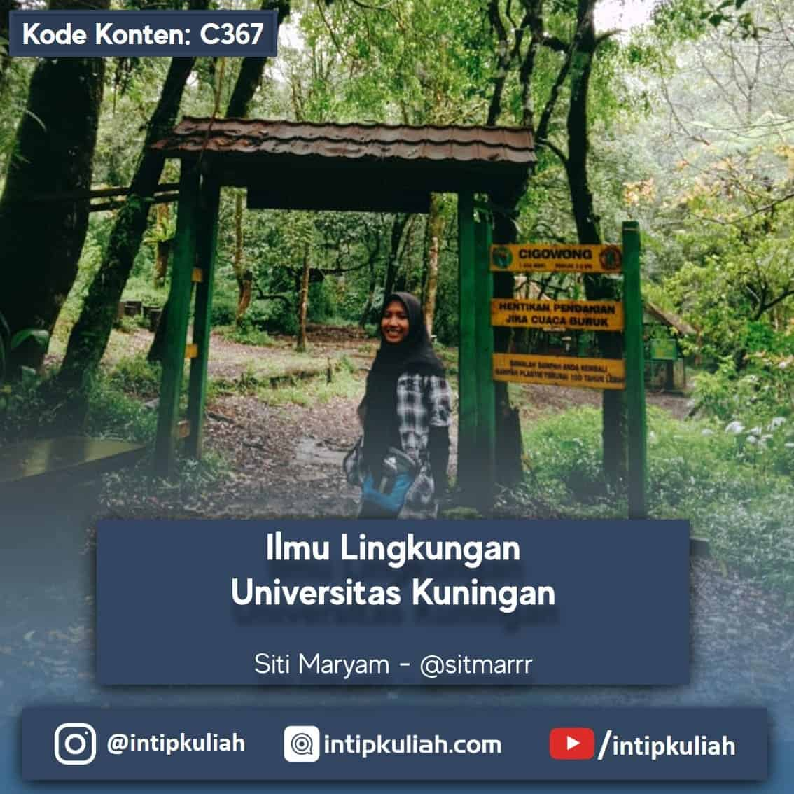 Ilmu Lingkungan Universitas kuningan (Maryam)