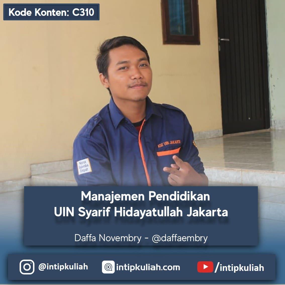 Manajemen Pendidikan UIN Syarif Hidayatullah (Daffa)