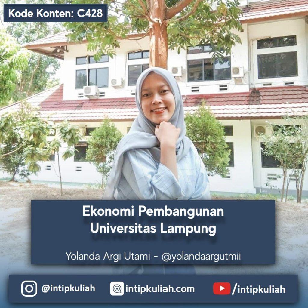 Ekonomi Pembangunan Universitas Lampung (Yola)