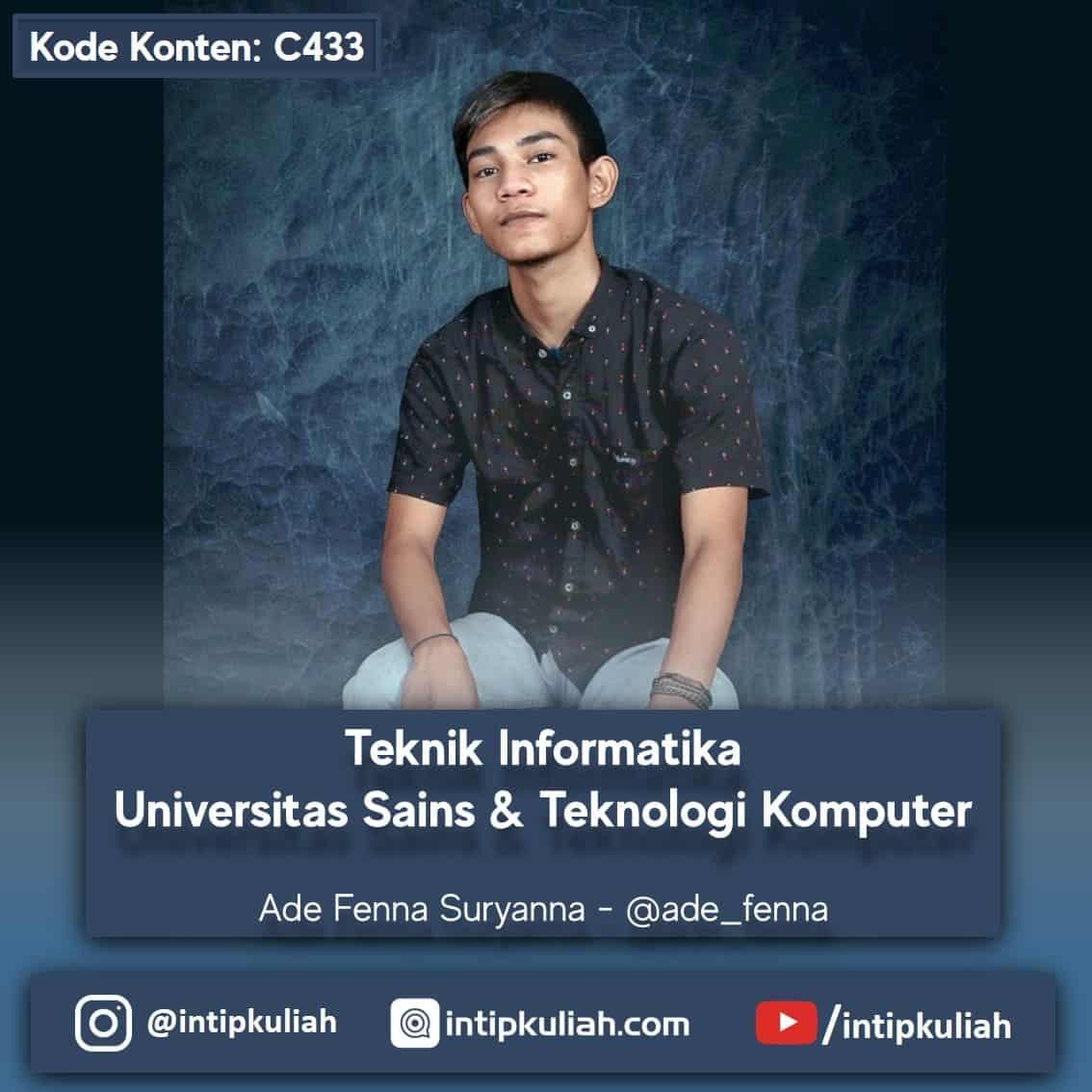 Teknik Informatika Universitas Sains & Teknologi Komputer (Ade)