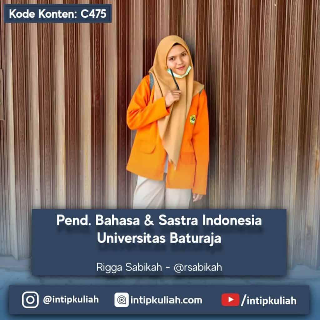 Pend. Bahasa & Sastra Indonesia Universitas Baturaja (Rigga)