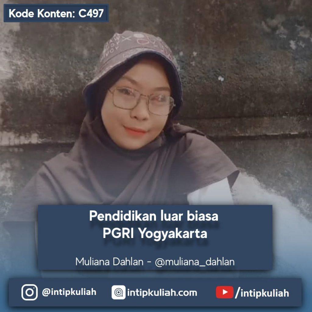 Pendidikan luar biasa PGRI Yogyakarta (Dahlan)