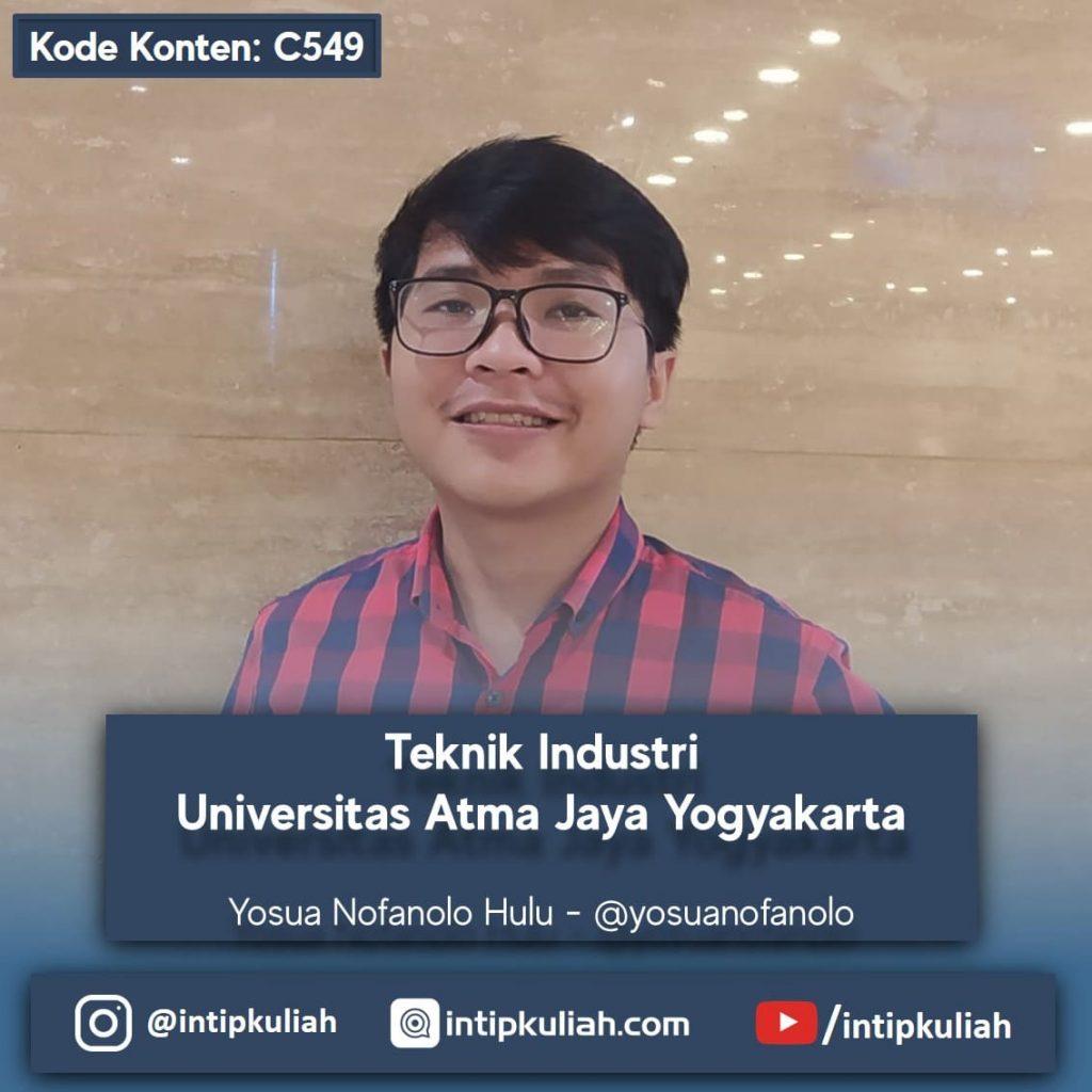 Teknik Industri Universitas Atma Jaya Yogyakarta (Yosua)