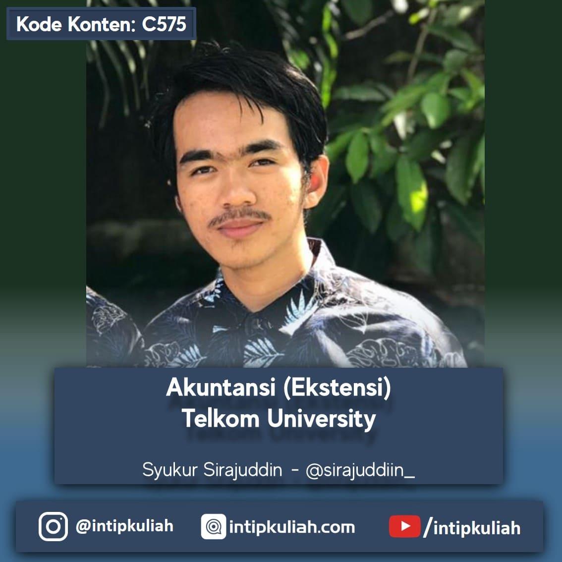 S1 Akuntansi (Ekstensi) Telkom University (Syukur)