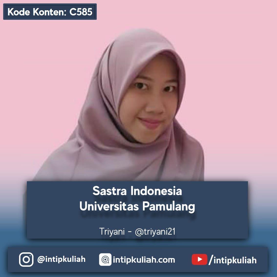 Sastra Indonesia Universitas Pamulang (Triyani)