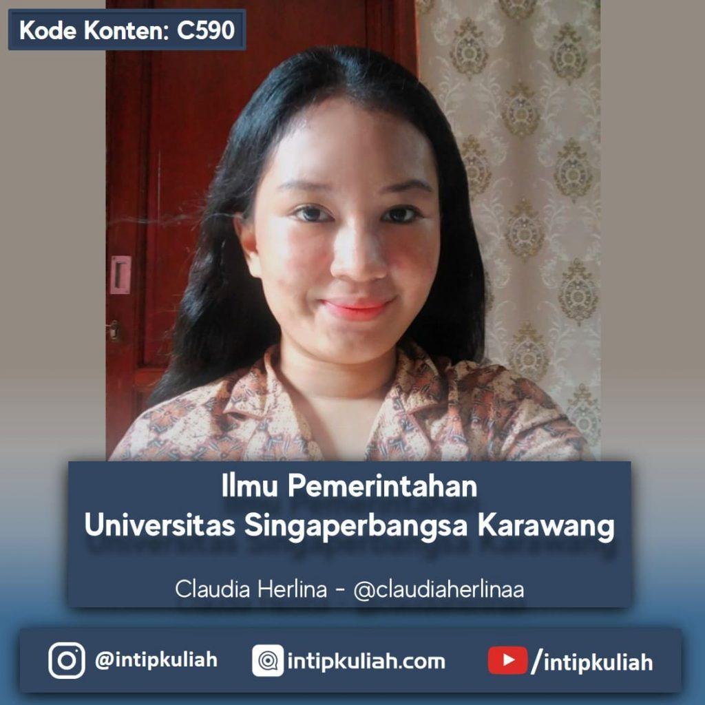 Ilmu Pemerintahan Universitas Singaperbangsa Karawang (Claudia)