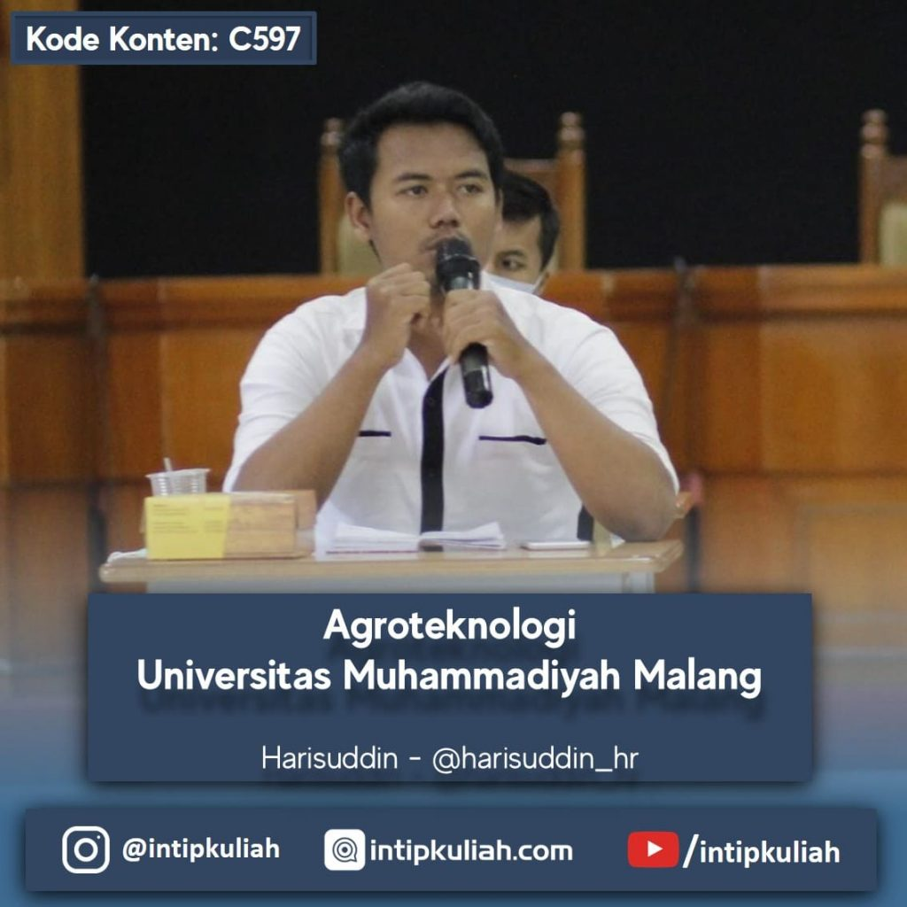 Agroteknologi Universitas Muhammadiyah Malang (Harisuddin)