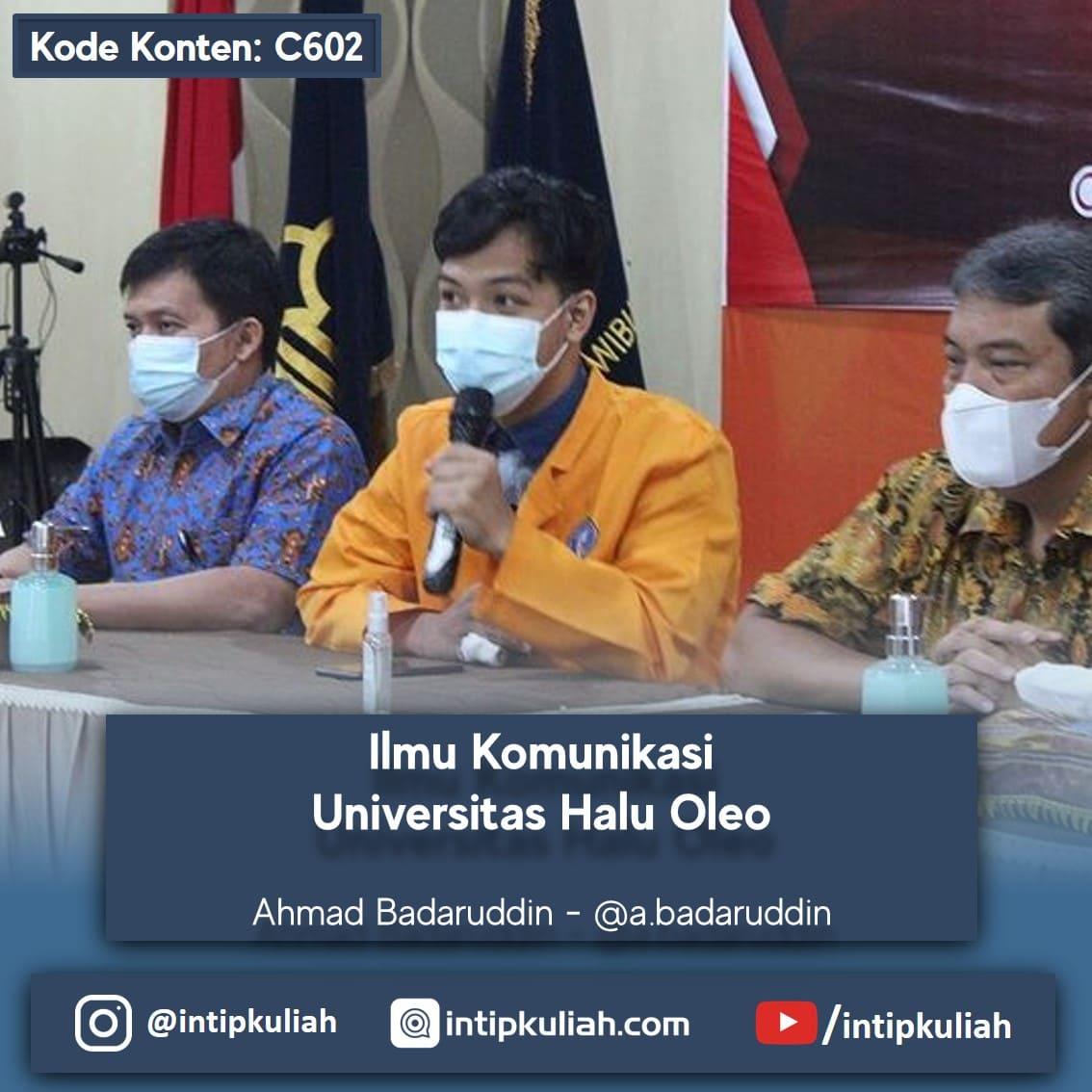 Ilmu Komunikasi Universitas Halu Oleo (Ahmad)