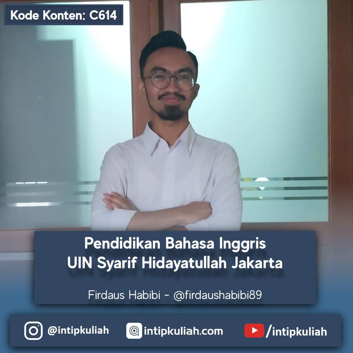 Pendidikan Bahasa Inggris UIN Syarif Hidayatullah (Firdaus)