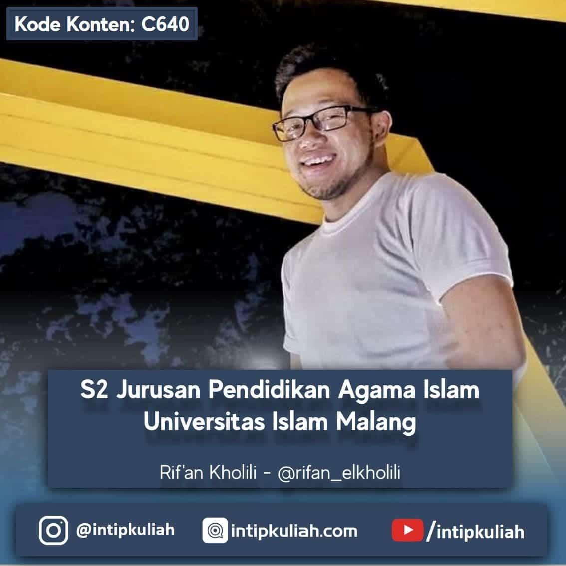 S2 PAI Universitas Islam Malang (Rif'an)