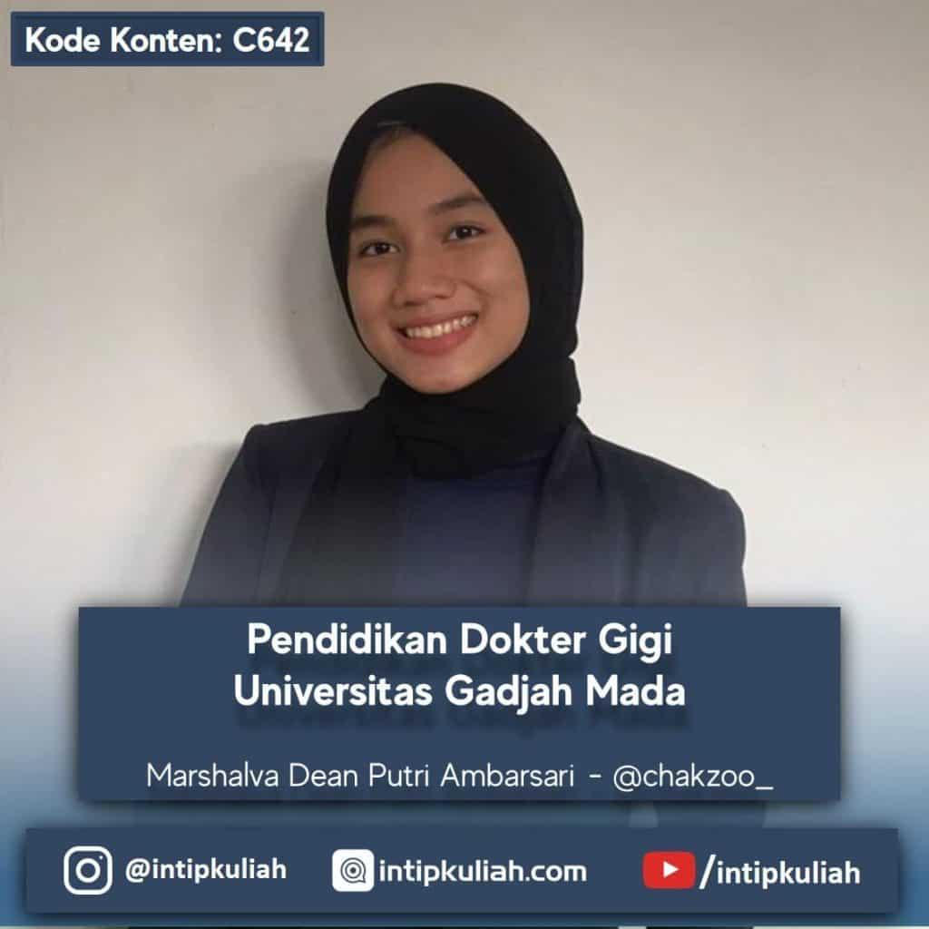 Pendidikan Dokter Gigi UGM (Marshalva)