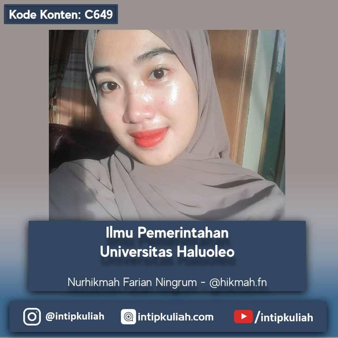 Ilmu Pemerintahan Universitas Haluoleo (Nurhikmah)