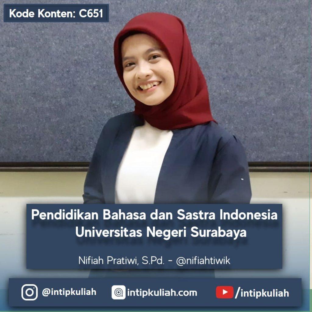 Pendidikan Bahasa dan Sastra Indonesia Unesa (Nifiah)